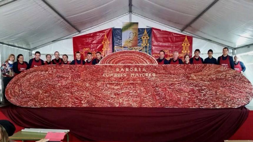 Saborea Cumbres Mayores jamón jabugo