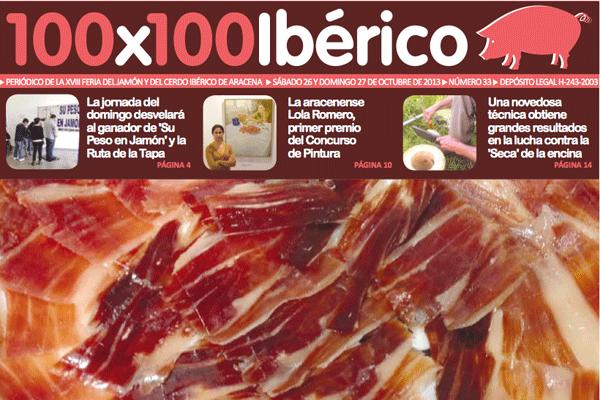 Feria del Jamón Aracena periódico 100x100 iberico