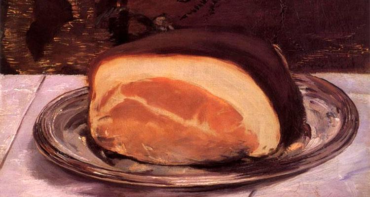'Naturaleza muerta con jamón', de Manet.